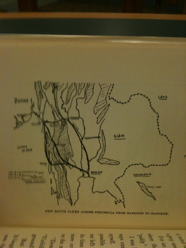 Rangoon to Bangkok Map.