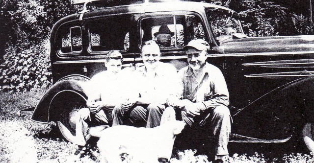 Jerry, Clarence, Uncle Frank & Grandpa Anderson