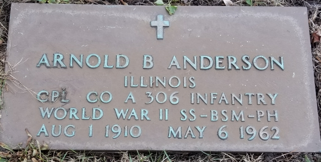 Arnold Anderson headstone