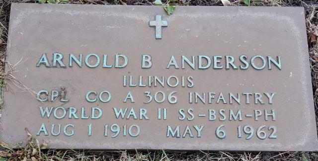 Arnold Anderson headstone