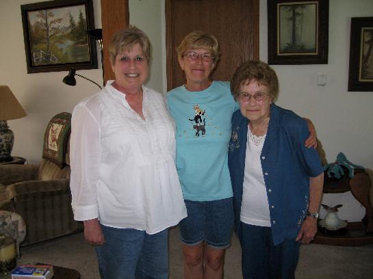 Carol Singer, Gloria Hartman Clark, Mary Foreman Hartman