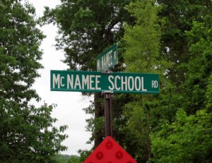 Intersection of McNamee Rd and McNamee School Road