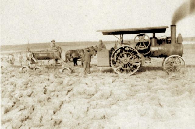 Sid's Steam Engine cutting sod 1898