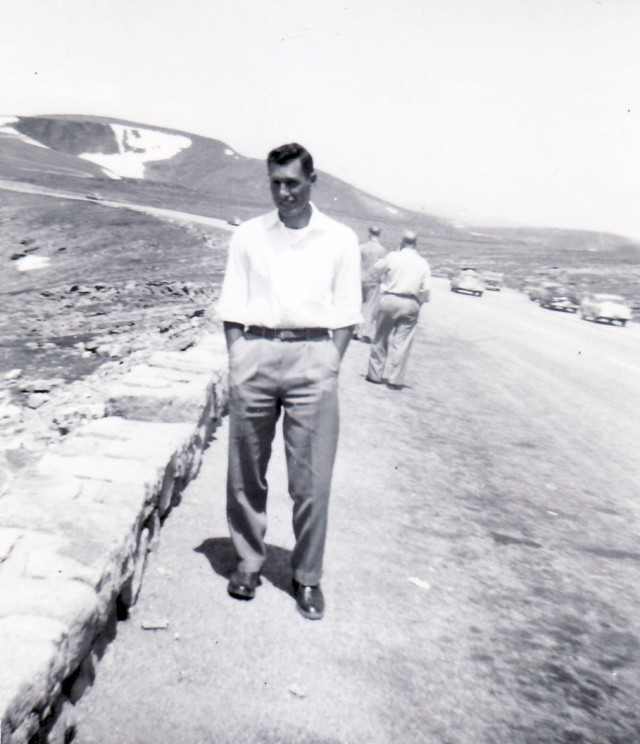 Jerry Stalter on Trail Ridge Road abt 1956-57