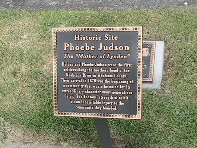 Phoebe Judson plaque