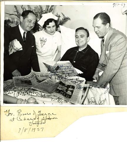 Jacob Singer and Governor E. Rivers