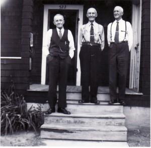 Clarence, Harvy & Jesse Squires 1947