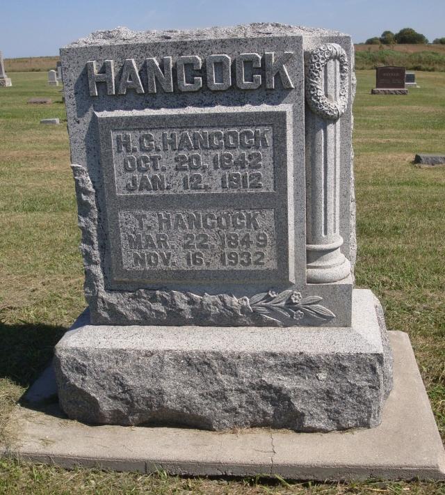 HC and T Hancock headstone