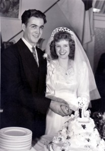 Pearl & Gene wedding 1946